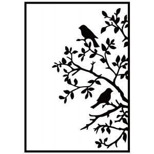 Embosovací šablona - Ptáci na větvi