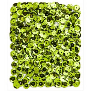 Flitry lámané 9 mm, 15 g - světle zelené