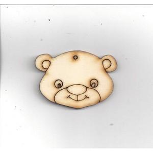 Medvěd malý hlava 3,3 x 4,5 cm