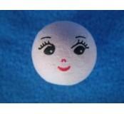 Vatová hlavička panenka 22mm