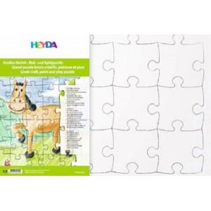 Puzzle k pomalování 40 x 53 cm, 12 dílků