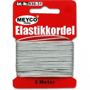 Nit elastická 1mm, 5m - stříbrná