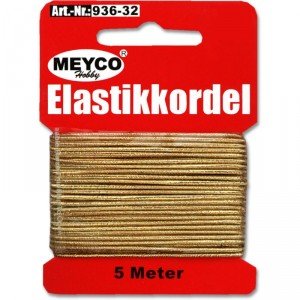 Nit elastická 1mm, 5m - zlatá