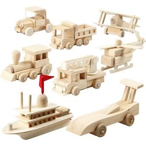 Dřevěná skládačka - vlak