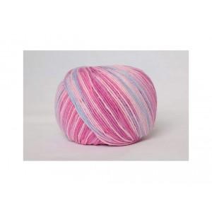 Příze Jeans Color - pastelově růžovo fialová batikovaná