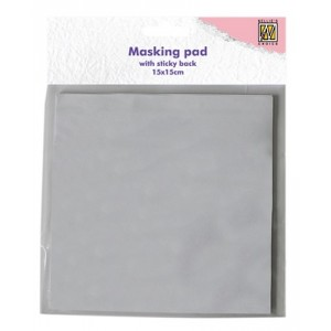 Překrývací lepicí podložka pro razítkování -snímatelná, 15x15 cm, 30 ks