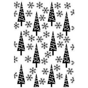 Embosovací šablona Pinetrees & Snowflakes