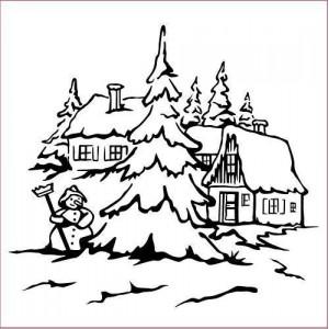 Embosovací šablona Snowman