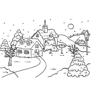 Embosovací šablona Snowy village 1