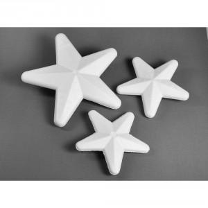 Polystyrenová hvězdička, 15cm