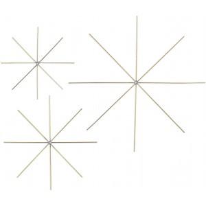 Drátové hvězdičky 5ks, O 8cm