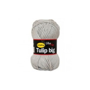 Vlna Tulip big - světle šedá