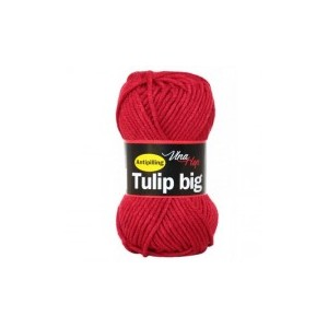 Vlna Tulip big - červená