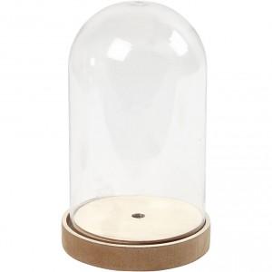 Plastový zvon s dřevěným dnem