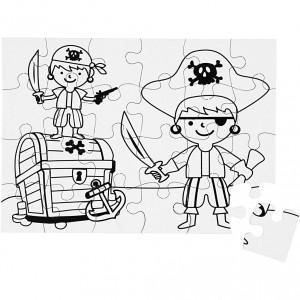 Puzzle k vymalování A5 - pirát