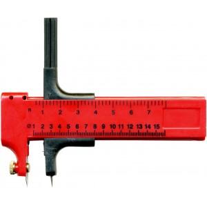 Kružítkový řezák s pravítkem