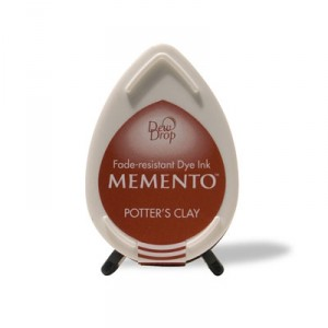 Razítkovací polštářek Memento Dew Drop - Potter's Clay