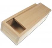 Dřevěná krabička s šoupacím víkem