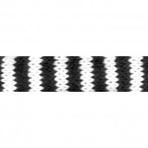 Pletená dutinka 2,2 cm - černo-bílá, 10cm