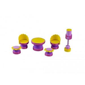 Sada k výrobě nábytku do pokojíčku pro panenky - fialová