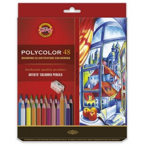Umělecké pastelové tužky s ořezávátkem, 48ks