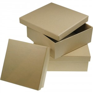 Kartonová krabička čtvercová, 120x120x50 mm