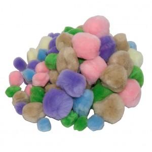 Bambulky - mini pompony mix barev
