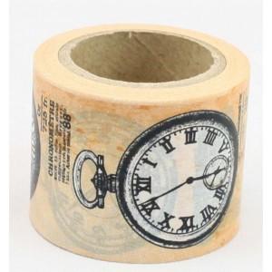 Dekorační lepicí páska Washi - hodiny