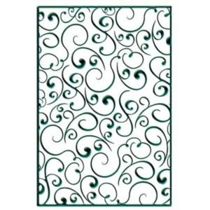 Embosovací šablona - Rámeček swirls