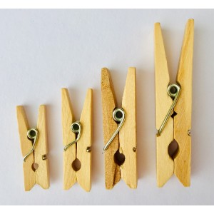 Dřevěné kolíčky - přírodní, 25ks, 30x4mm