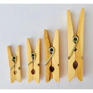 Dřevěné kolíčky - přírodní, 25ks, 25x3mm