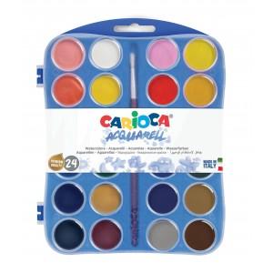 Vodové barvy 24 ks + 1 štětec
