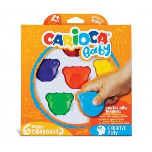 """Dětské voskovky Teddy Crayons 6 ks """"HIT"""""""
