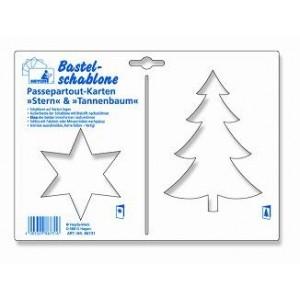 Kreativní šablona - hvězda, stromek