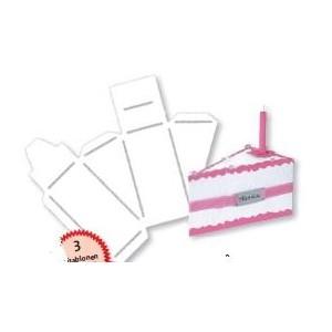 Kreativní šablona - dortík