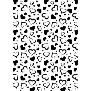 """Plastová šablona """"Hearts"""""""