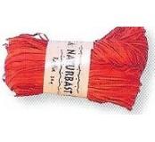 Dekorační lýko - oranžová