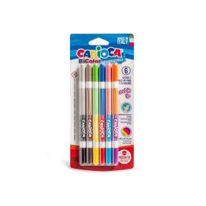 Oboustranné dvoubarevné fixy BiColor 6 ks
