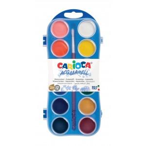 Vodové barvy 12 ks + 1 štětec