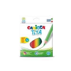 Šestihranné školní pastelky Tita 24 ks