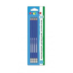 Šestihranné tužky s gumou 4 ks, tvrdost HB