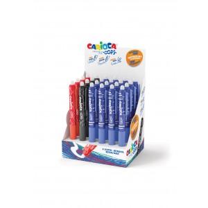 Mazací školní  pero Carioca Oops! stiskací, stojan 24 ks