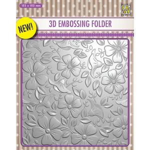 Embosovací šablona 3D - Květiny3