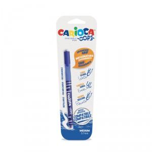 Mazací školní pero Carioca Oops!, modré, blistr