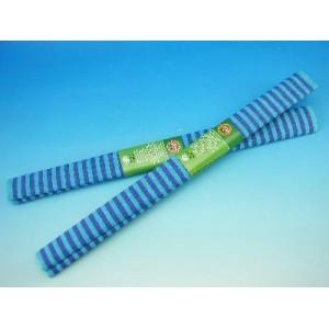 Papír krepový - modré pruhy