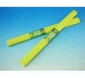 Papír krepový - žlutý+zelené puntíky
