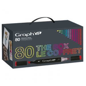 Graph'it Set alkohových popisovačů v krabici, 80ks
