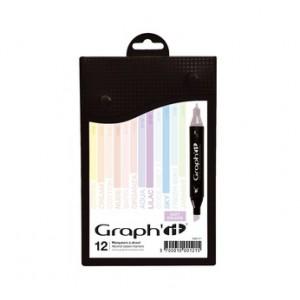 Graph'it Set alkohových popisovačů, 12ks - Soft