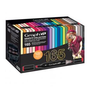 Graph'it Set alkohových popisovačů v pouzdře, kompletní sada 165 barev