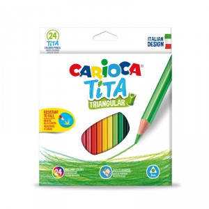 Trojhranné školní pastelky Tita 24 ks